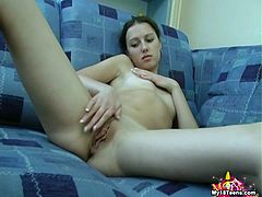Her new toy is perfect for that lovely and wet little vag