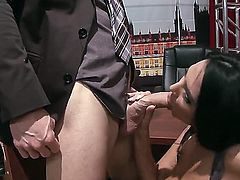 Look at awesome Johnny Sins playing with juicy brunette Missy Martinez and her melon tits