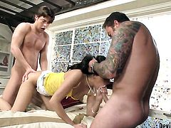 Dale DaBone has a great time banging attractive Joclyn Stones mouth