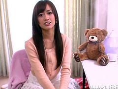 Hairy Japanese Babe Gets Fingered and Fucked