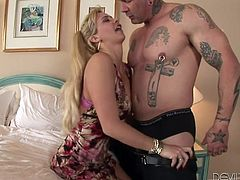 Have a look at this amazing hardcore scene where the busty blonde milf Phyllisha Anne shows off her great body as she's fucked silly.