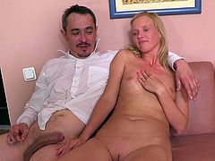 Sexy blonde Shelly fucks just for cash