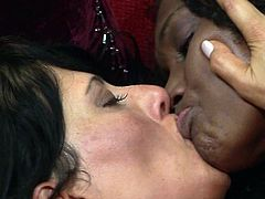 Top interracial lesbian game between two lovely hot ladies