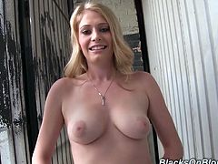 What are you waiting for? Watch this blonde babe, with big tits wearing a cute bra, while she exposes her beauty in a reality video.