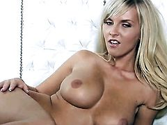 Chikita with big melons and hairless twat is in the mood for pussy rubbing