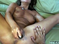 Gorgeous brunette slut deserves good rimjob and tongue job. Horny dude spreads her butt cheeks and tickles her ass hole with playful tongue.