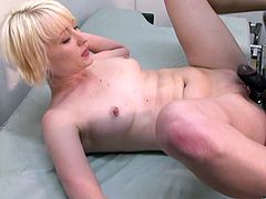 Make sure you get a load of Nora Skyy's sexy body in this interracial before she sucks ans fucks this doctor's black monster cock.