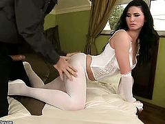 Alma Blue cant live a day without taking erect man meat in her mouth