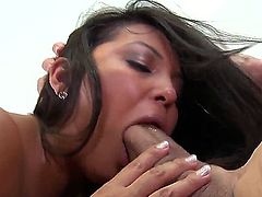 Enjoy beautiful dirty bitch Adriana Luna showing her sucking skills with Peter North