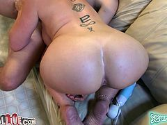 Long haired insatiable MILF with big booty and huge boobies provided her thirsting boy with unforgettable deep throat. Take a look at this zealous MILF in My XXX Pass sex clip!