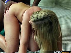 Brianna Brooks is one off the hottst MILFS ever and she is ready for some hardcore pumping with a huge black dong. Her mentally ill hubby is watching how she takes it into her twat!