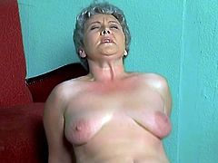 This mature woman still has an appetite for wild sex. She gives a passionate blowjob and then gets fucked in her shaved pussy.