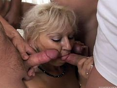 That old blond haired slut with small still elastic boobies stood on knees and set to suck several juicy cocks at once. Take a look at that awesome FMMM fuck in Fame Digital porn clip!
