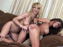 Two hot fuckin' sluts suck on each other's dripping wet pussies in this amazing lesbian clip right here, check it out it's hot!