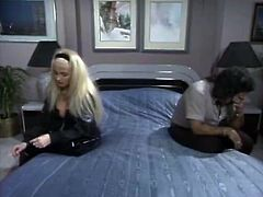 Filthy whore in nice and sexy dress and light hair gets her pussy drilled in doggystyle. Have a look in The Classic Porn xxx clip.