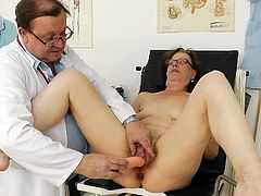 Her cramped vag feels astounding during a strong gyno exam