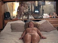 Get a load of this sexy blonde's amazing body in this hot amateur video where she's fucked by this guy.