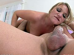 This horny blonde is ready to blow big cock 24/7. her deep throat and big juicy boobs will drive you crazy. Just enjoy watching real rough blowjob for free.
