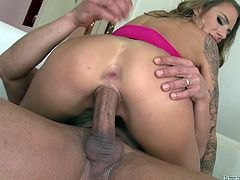 Check out this amazing hardcore scene where the sexy blonde Juelz Ventura gets fucked up her tight ass by this guy's thick cock.