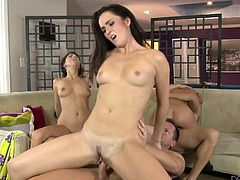 Take a look at this amazing hardcore scene where the these horny babes are fucked by big cocks in a group sex scene like no other.