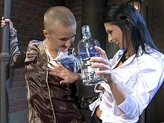 Check out this hot lesbian scene where these sexy ladies get drunk and end up eating one another in this amazing clip.