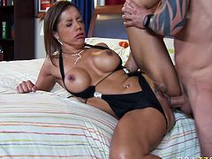 Breath-taking beauty Francesca Le is butt fucked brutally