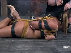 Trina Michaels enjoys pleasurable torture. Her legs, pussy, ass and tits are all fair game. Cyd just picks a place and hurts it. There is no rhyme or reason, just pure torment.