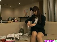 Wierd Japan brings you a hell of a free porn video where you can see how the alluring Japanese brunette Miho Imamura gets banged from both ends wearing stockings.