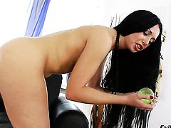 Isabella Clark is horny as hell and fucks herself with her fingers with wild enthusiasm