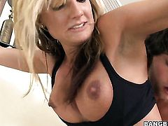 Val Malone with big bottom gets cum covered