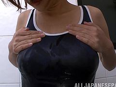 Absolutely gorgeous Japanese hottie sucks on a dick and actually on a bunch of phallic stuff too, but whatever, here check it out!
