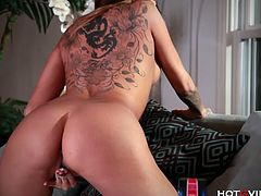 Kayla Carrera is a Latin supermodel, milf and kinky slut. She tries HotGVibe in this amazing masturbation video. She reaches climax using that small vibrator.