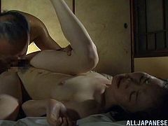 Take a look at this hot amateur video where this sexy mature Asian is fucked silly by this guy as you hear her moan.