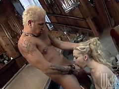 Busty Blonde with Big Tits Banged on a Pool Table