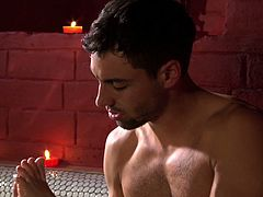 Exciting erotic scene in the bathroom featuring sexy models Will Steiger and Sahara Knite. This is a perfect video choice for those who have got foot fetish.