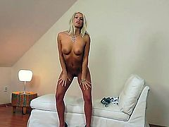 Blanche Bradburry is a gorgeous blonde christian girl, and a self confessed sinner. Watch as she plays with her amazing tanned titties, then spreads her pink, shaved pussy -- wide.