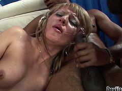 Filthy whore with light hair and and good body gets hammered hard with double penetration and sucks the dick. Watch at this gal in Fame Digital xxx clip.