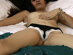 Check out young hottie slowly getting nude and posing her sweet forms