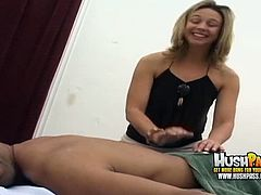 Brianna Beach is not kidding when she starts sucking Shane Diesel's monster cock. She is really dedicated to make him feel great and she really loves his balls.