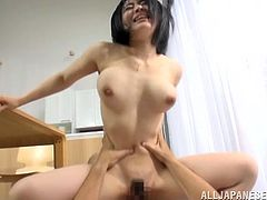 Make sure you have a look at this hardcore POV scene where this busty Asian babe titty fucks this and sucks on his hard cock.