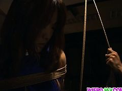 Yuri Matsushima Japanese beauty is pregnant and in bondage