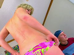 A slutty blonde chick has sex with a guy she barely knows because she want sex badly. Naomi gives head and then gets her nice pussy fucked hard. A guy fucks her well, so she moans loudly.