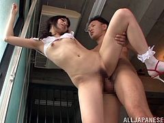 Make sure you have a look at this hot lesbian scene where this sexy Asian babe's fucked by this guy's big cock as you hear her moan.