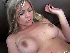 If someone knows how to make a guy horny, it is Brianna Brooks. This stunning blonde with big boobs is a sex freak and she fucks every time she gets the chance. Horny dude spreads her legs wide and fucks her tight pussy in missionary position.