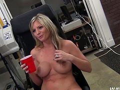This blondie is absolutely one of a kind. You won't believe just how sexy she is until you watch this video. The girl is the full package. She has a pretty face, a nice set of big boobs and a nicely shaped booty that's just begging to get fucked in every position.