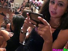 Horney Birds brings you a hell of a free porn video where you can see how some very nasty sluts share a cock during a wild party while assuming very interesting poses.