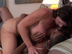 With such black dong waiting to enter her fine vag, mature Deauxma is about to crack of pleasure