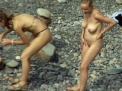 He feeds his dirty desires by spying on these babes with the hidden cam placed at the beach