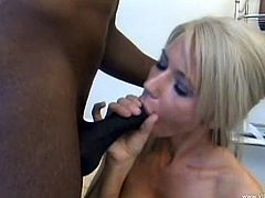 Ashley's deep dark secret is that she loves to fuck black guys on the side. In a hotel she gets on top and stabs herself on that black dick.