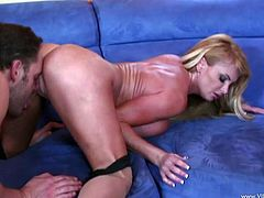 Make sure you watch this hardcore scene where the busty blonde Taylor Wane gets eaten out before she's fucked silly by his thick cock.